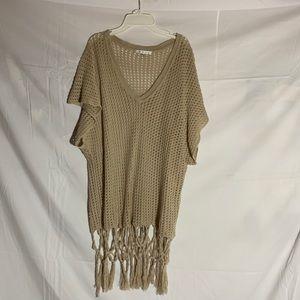 Cabi beige knitted shawl
